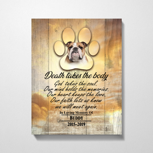 Personalized Memorial Dog We Will Meet Again Custom Dog Pet Lover Canvas