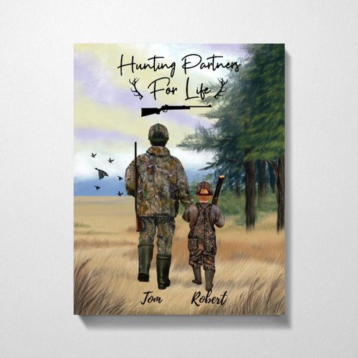 Custom Duck Family Canvas Personalized Gifts for Hunters & Hunting Lovers