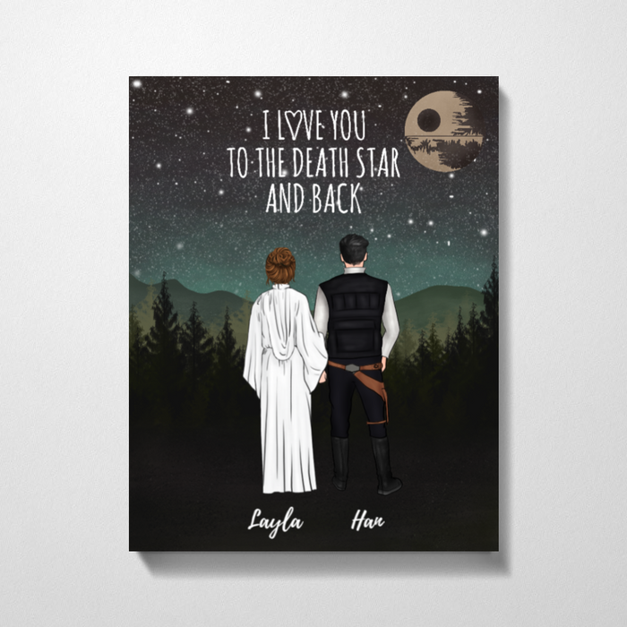 Custom SW Couple Love To Death Star Premium Canvas Gift For SW Lovers