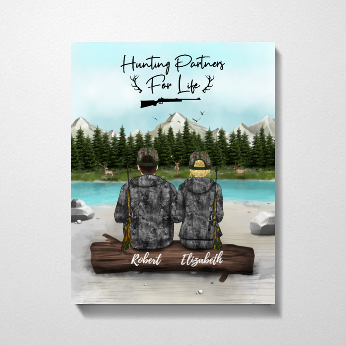 Custom Hunting Partners Premium Canvas Personalized Gift For Hunting Lovers