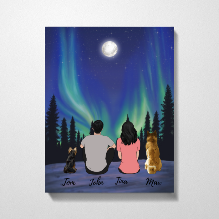 Full Moon Night Premium Canvas