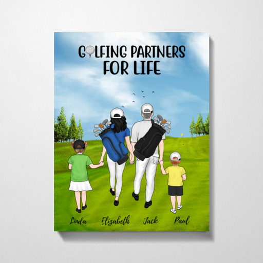 Personalized Premium Canvas - Golf Family Gift for Golf Lovers