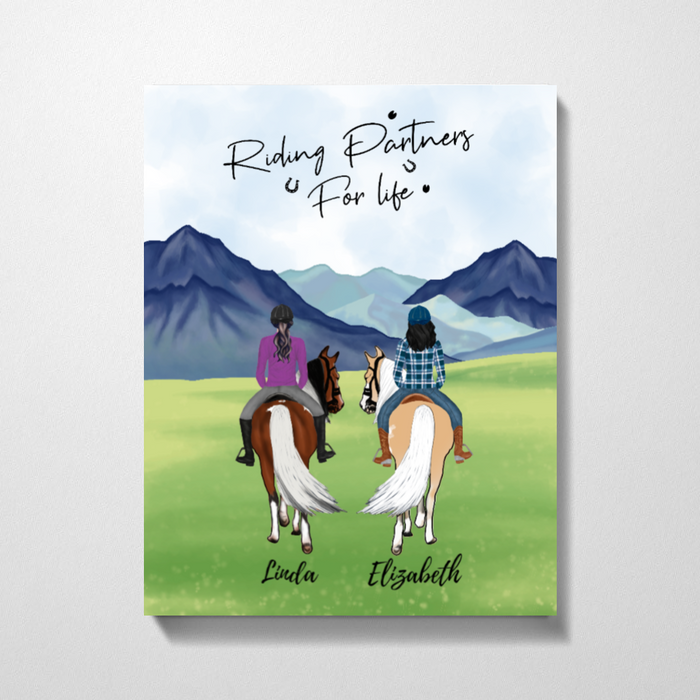 Custom Riding Partners  Premium Canvas Personalized Gift