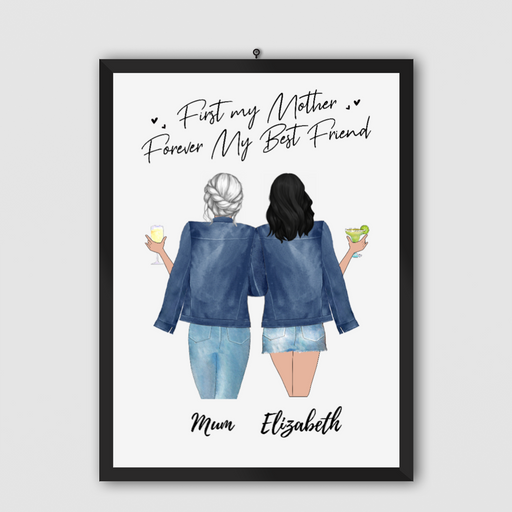 Custom Mother & Daughter Posters Personalized Mother's Day Gift