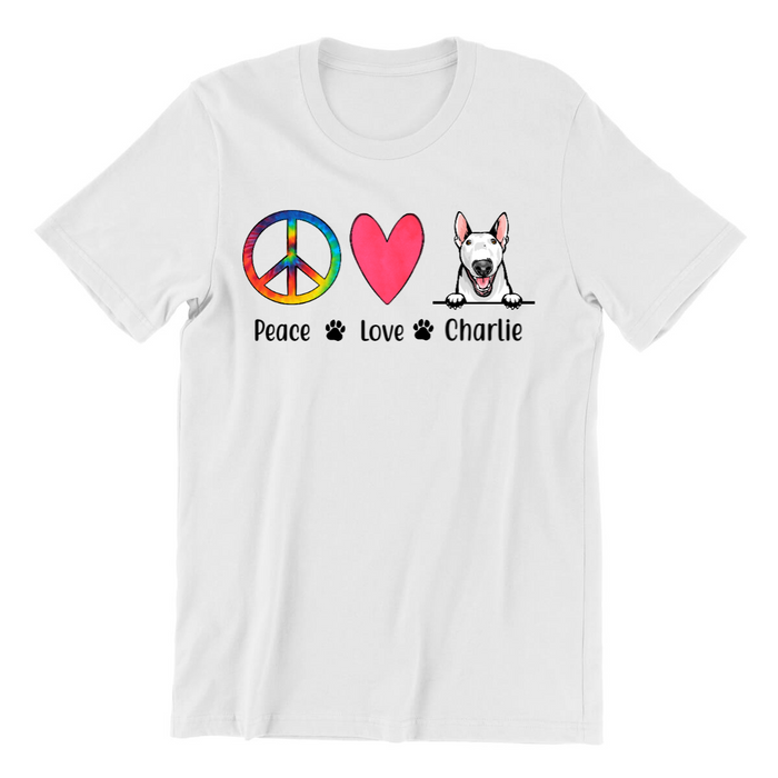Custom Peace Love Dog - Personalized Gift For Pet Lover