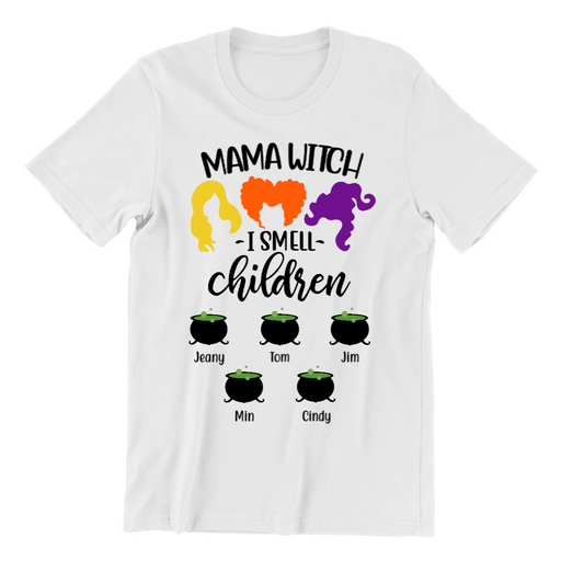 Custom Mama Witch Personalized Shirt Gifts For Halloween Mother