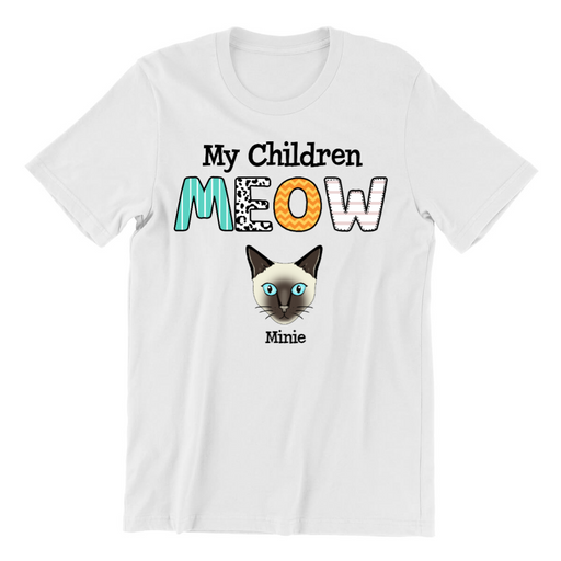 My Children Cat Customized Shirt