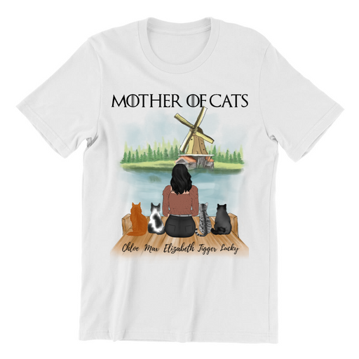 Mothers Of 4 Cats Customized Shirt