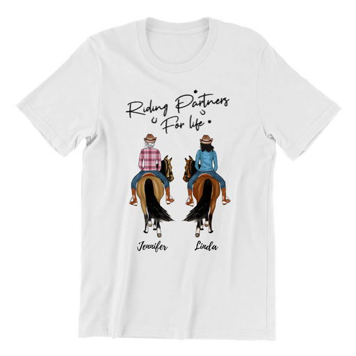 Horse Lover 2 Riders Customized Shirt