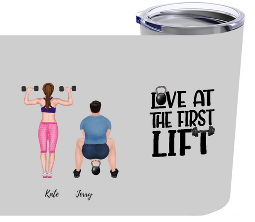 Personalized Tumbler Custom Workout for Couple 20oz