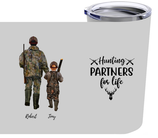 Personalized Tumbler - Customized Tumbler Hunting Partners