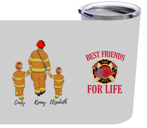 Personalized Tumbler, Firefighter Father Firefighting Gifts For Dad