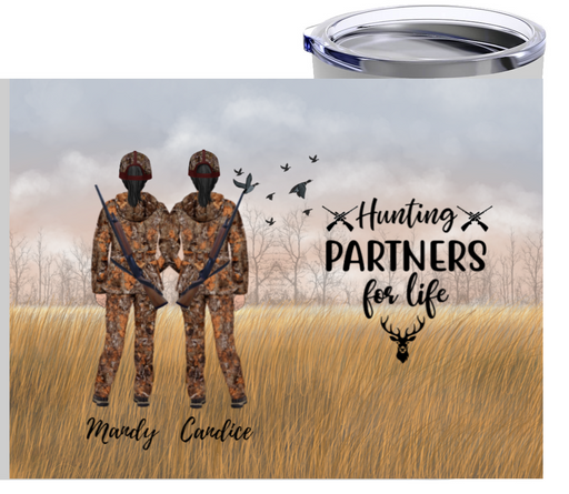 Personalized Tumbler - Hunting Couples