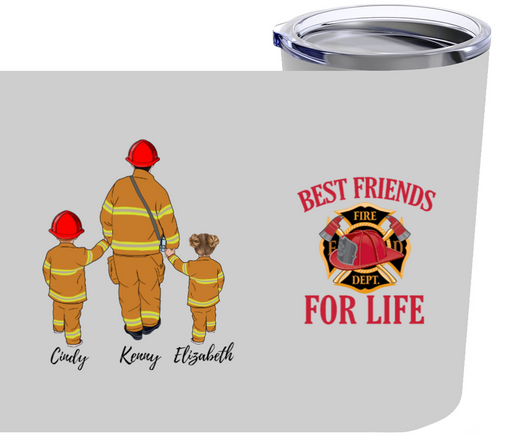 Personalized Tumbler, Firefighter Dad, Fathers Day Firefighting Gifts For Dad