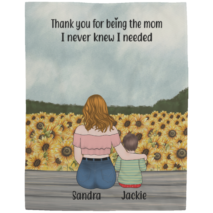 Personalized Blanket, Mother and Kids Custom Gift For Mother's Day