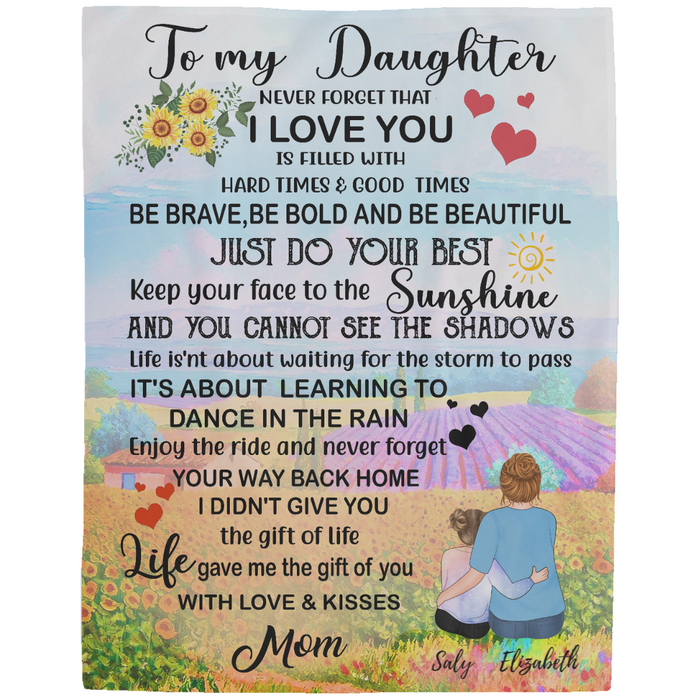 Personalized Blanket - To My Daughter - Just Do Your Best