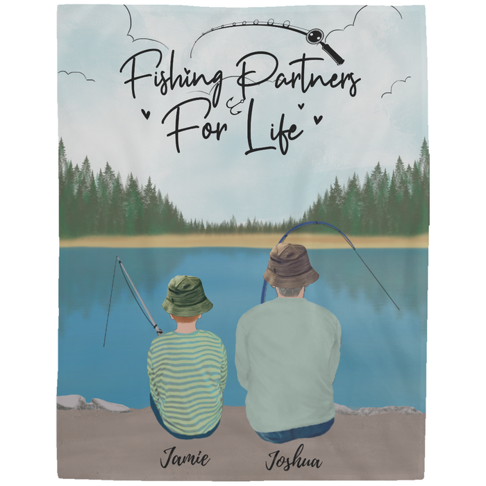 Personalized Blanket - Fishing Partners for Life