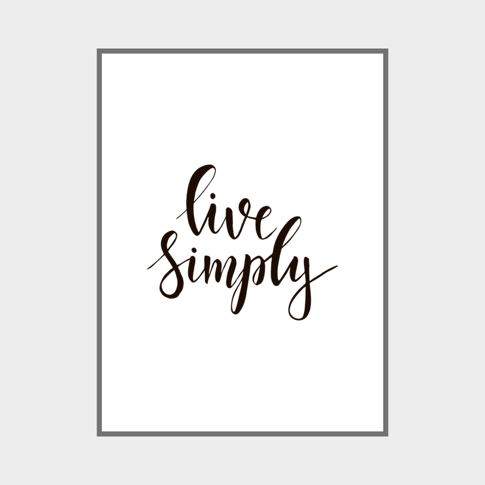 Live Simply Wall Art Print