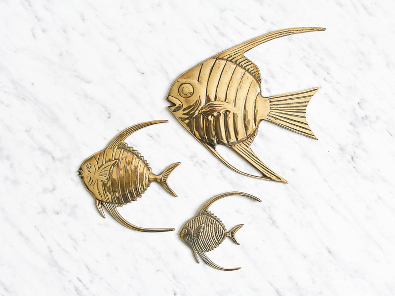 Messing Wandfiguren Fische
