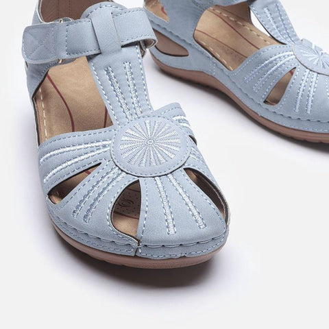 LIGHTWEIGHT SPLICING SOFT SOLE SANDALS NAVY