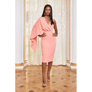 PINK MID-SKIRT LAZADA DRESS