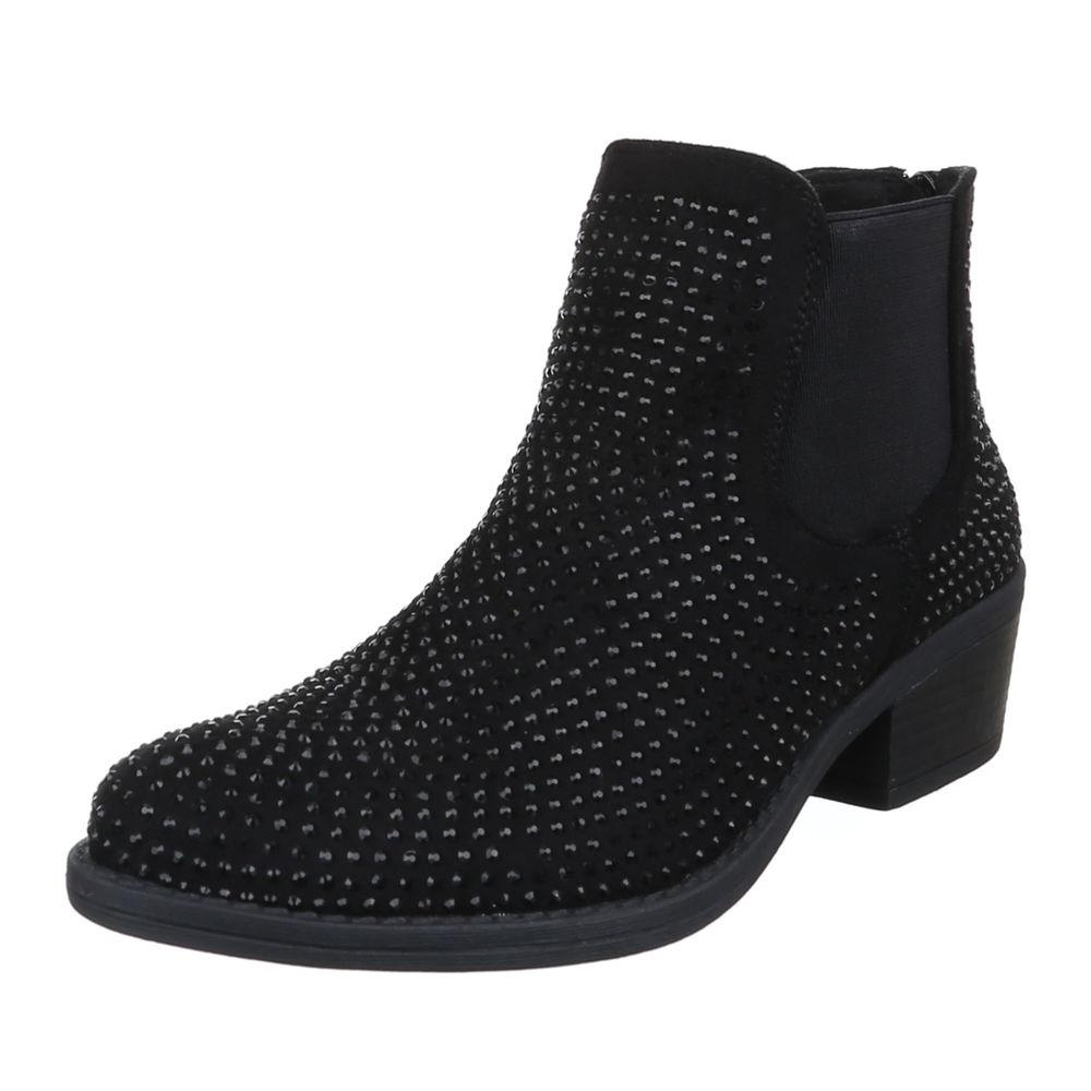 GLITTERY LOW  HEEL CHELSEA BOOT