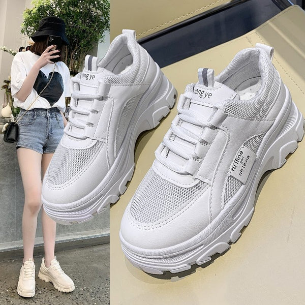 WHITE CHUNKY DADDY TRAINERS