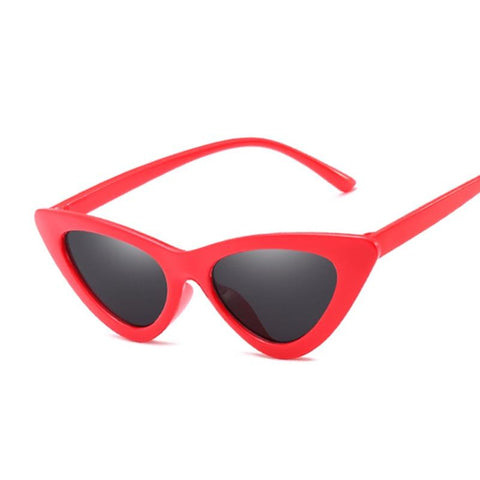 RED BELLA POINTY CAT EYE SUNGLASSES