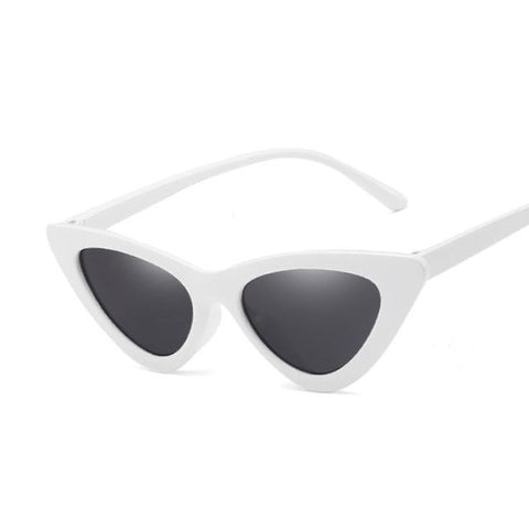 WHITE STELLA POINTY CAT EYE SUNGLASSES