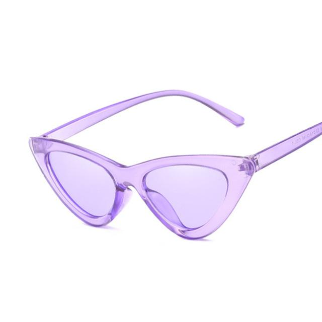 PURPLE STELLA POINTY CAT EYE SUNGLASSES