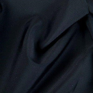 Carvico Malaga Stretch Matt Black Nero Lycra Fabric (1m)