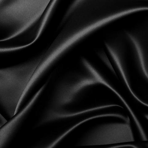 Boselli Segrino Black Stretch Satin 1m - (98cm wide)