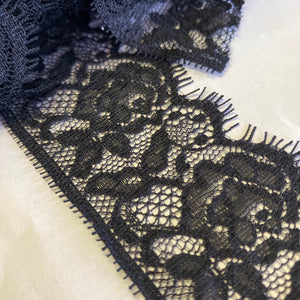 Black Eyelash Lace 5cm Wide - (3m)