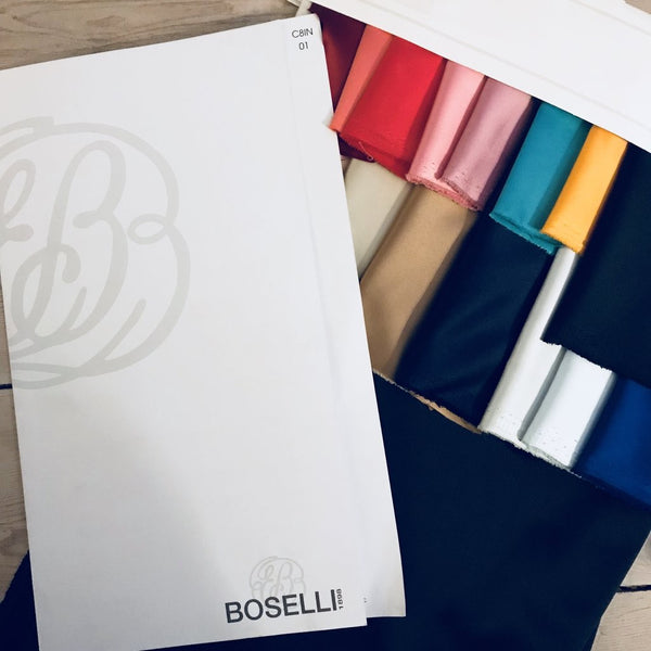 Boselli White Stretch Satin 1m - (98 cm wide)