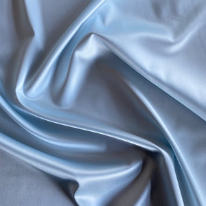 Boselli Segrino Ice Blue Stretch Satin 1m - (98cm wide)