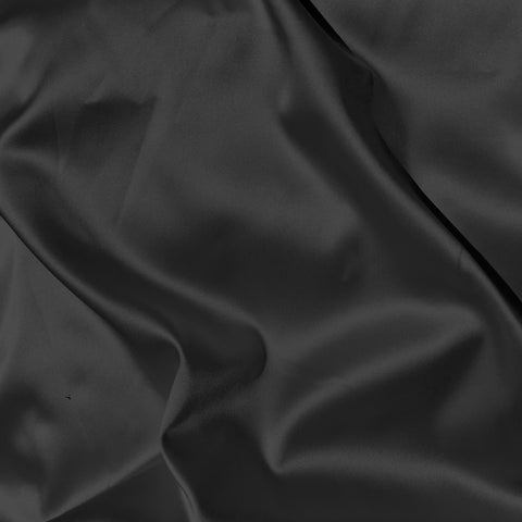 Boselli Gunmetal Grey Stretch Satin 1m - (175cm wide)