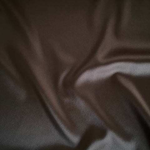 Boselli Segrino Chocolate Brown Stretch Satin 1m - (98cm wide)