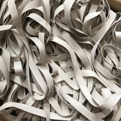 White 8mm Swimwear Rubber Elastic (5kg)