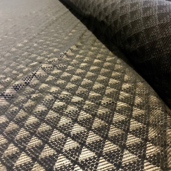 Black Triangle Pattern Stretch Mesh Lace Fabric 1m
