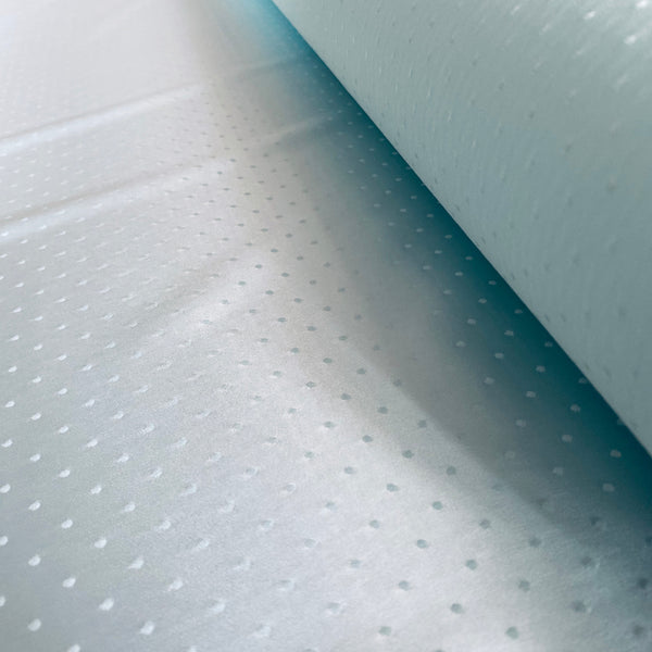 Boselli Segrino Spotty Aqua Stretch Satin 1m - (98cm wide)