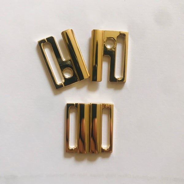 Gold Swimwear / Lingerie / Bra Back Clasps - All Sizes (10pcs)