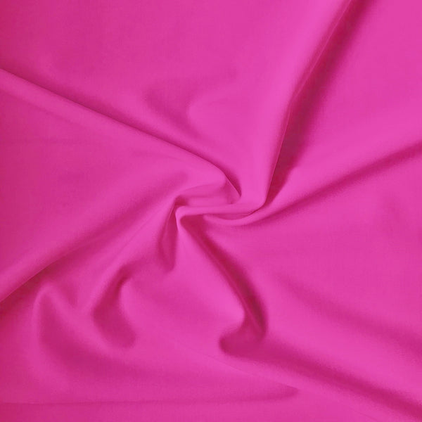 Carvico Malaga Stretch Rosa Shocking Pink Fluorescent Matt Lycra Fabric (1m)