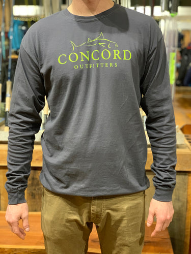 Grey Long Sleeve Shirt With Concord Outfitters Logo