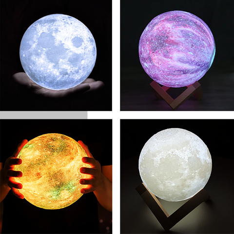 Moon and galaxy lamps - StarSystems