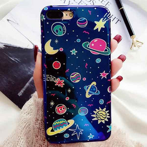Metallic Blue Universe iPhone case - For iPhone 6 6S / c - Starsystems