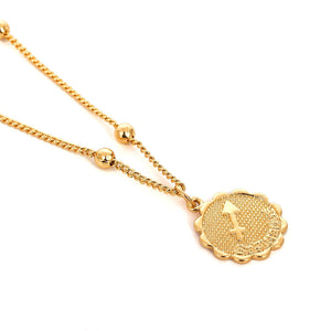 Zodiac Charms Necklace - Sagittarius / Gold - Starsystems