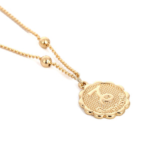 Zodiac Charms Necklace - Capricorn / Gold - Starsystems