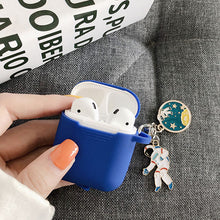 Load image into Gallery viewer, Astronaut Planet Keychain Airpod Cover - Blue - Starsystems