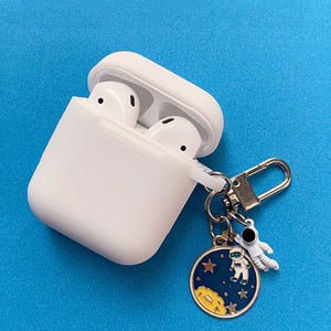 Astronaut Planet Keychain Airpod Cover - White - 4 - Starsystems
