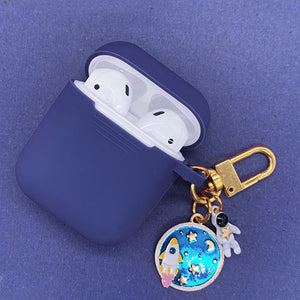 Astronaut Planet Keychain Airpod Cover - Indigo - Starsystems